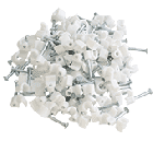 Round Cable Clips 3.5mm - White (100pk)