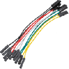 100mm Female to Female Jumper Wires (10pk)