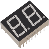14.2mm Two Digit 7-Segment Display