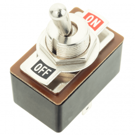 DPDT Toggle Switch with On/Off Label Plate