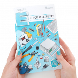 Colouring book - E is for electronics
