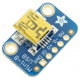 Adafruit USB Mini-B Breakout Board