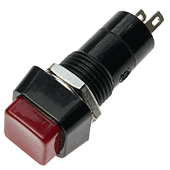 Square Red Push Switch