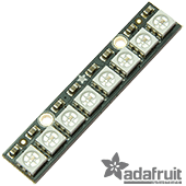Adafruit NeoPixel Stick - 8 x 5050 RGB LED with Integrated Drivers