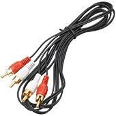 1.8m Twin Phono to Phono Cable