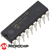 PIC16F88-I/P Microcontroller