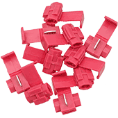 Tap-In Snap Connectors - Red (10pk)