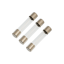 10A 250V 6.3x32mm Fast-Acting Glass Fuse (3pk)
