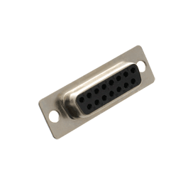15-Position Female Solder D-Sub Connector