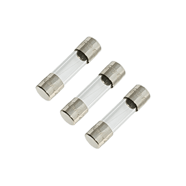 6.3A 250V 5x20mm Fast-Acting Glass Fuse (3pk)