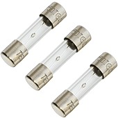 1A 250V 5x20mm Slow-Blow Glass Fuse (3pk)