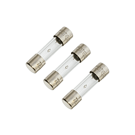 5A 250V 5x20mm Slow-Blow Glass Fuse (3pk)