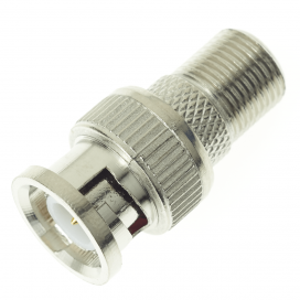 BNC Male Plug to F Connector Female Socket Adaptor