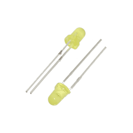 3mm Yellow LED (2pk)
