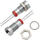 Red Chrome Indicator LED (2pk)