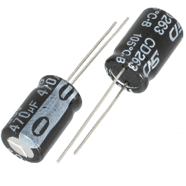 2 chemical capacitors electrolytic 470µf 470uf 35v radial 105 ° c wh tht