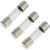 100mA 250V 5x20mm Fast-Acting Glass Fuse (3pk)
