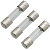 630mA 250V 5x20mm Slow-Blow Glass Fuse (3pk)