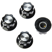 19.5mm Hexagonal Knob With Aluminium Insert (4pk)