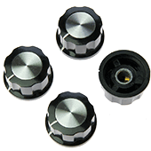 26.8mm Hexagonal Knob With Aluminium Insert (4pk)