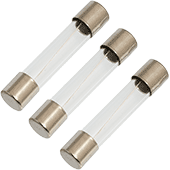 500mA 250V 6.3x32mm Fast-Acting Glass Fuse (3pk)