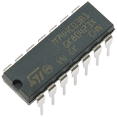 74HC03 Quad 2-Input NAND Gate - Open Collector
