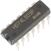 74LS03 Quad 2-input NAND Gate with open collector outputs