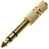 Gold-Plated Stereo Jack Adaptor 3.5 to 6.35mm