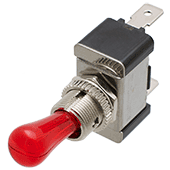 SPST Red Illuminated Toggle Switch