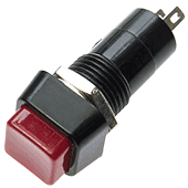 Latching Square Red Push Switch