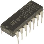 LF347N Quad J–FET operational amplifier