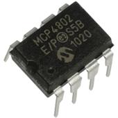 Microchip MCP4802-E/P Dual 8-bit DAC with SPI interface DIP8