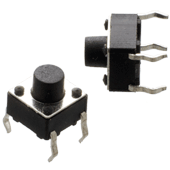 Miniature push button tactile switch (2pk)